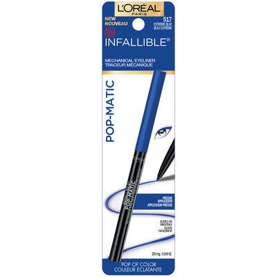 L'Oréal Paris Infallible® Pop-Matic Mechanical Eye Liner 517 Extreme Blue 0.009 oz. Carded Pack