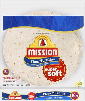 Mission® Flour Tortillas Large Burrito 16 ct. Bag