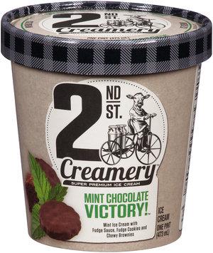 2nd St. Creamery™ Mint Chocolate Victory!™ Super Premium Ice Cream 1 pt. Carton