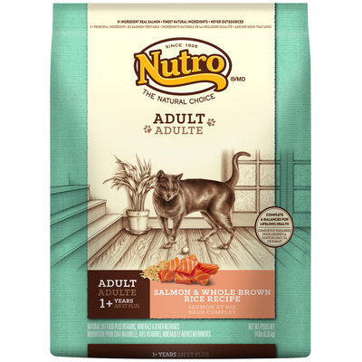 Nutro® Adult Salmon & Whole Brown Rice Recipe Cat Food 14 lb. Bag