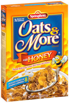 Springfeild® Oats & More® Cereal with Honey 14.5 oz. Box