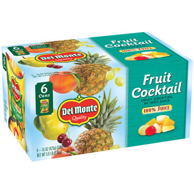 Del Monte® Fruit Cocktail in 100% Juice 6-15 oz. Cans