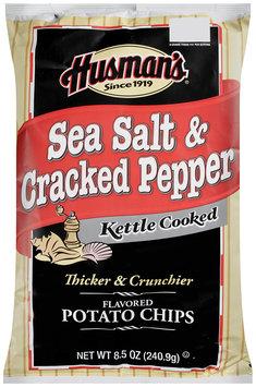 Husman's® Kettle Cooked Sea Salt & Cracked Pepper Potato Chips 8.5 oz. Bag