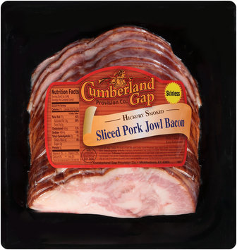 Cumberland Gap Provision Co. Hickory Smoked Sliced Pork Jowl Bacon Pack