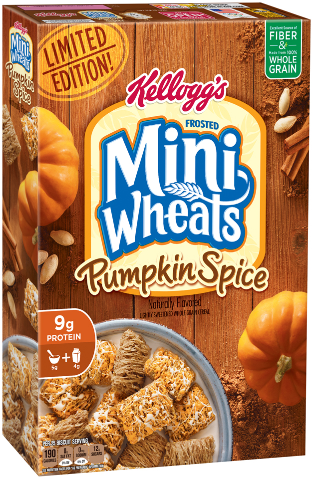 Kellogg's® Frosted Mini-Wheats® Limited Edition Pumpkin Spice Cereal