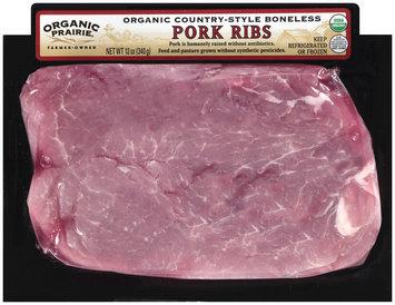 Organic Prairie Organic Country-Style Boneless Pork Ribs 12 oz Package
