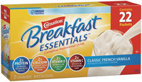 Carnation Breakfast Essentials Classic French Vanilla 1.26 Oz Packets Club Pack Complete Nutritional Drink 22 Ct Carton