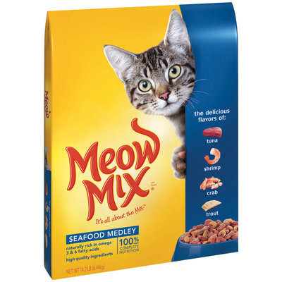 Meow Mix Seafood Medley Dry Cat Food, 14.2-Pound