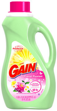 Gain with FreshLock Floral Fusion Liquid Fabric Softener 51 fl. oz. Bottle