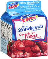Special Value® Sweetened Sliced Strawberries 10 oz. Carton
