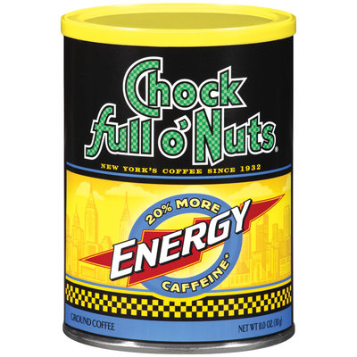Chock full o' Nuts® Energy Ground Coffee 11.0 oz Canister