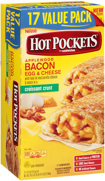 HOT POCKETS Frozen Sandwiches Bacon, Egg & Cheese 17 pack