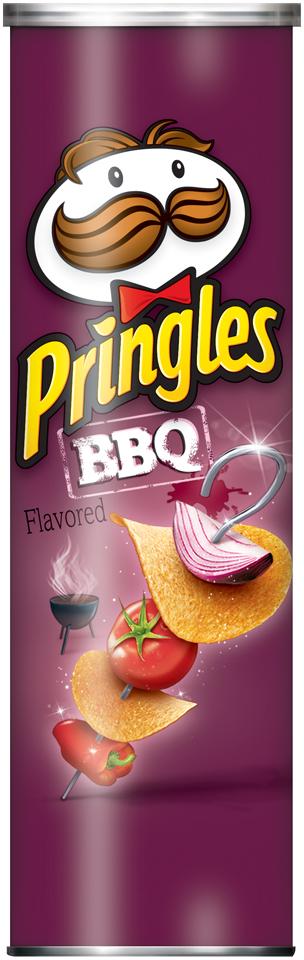 Pringles® BBQ Potato Crisps 4.62 oz. Canister