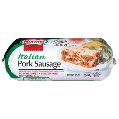 HORMEL ALWAYS TENDER Italian Pork Sausage 16 OZ CHUB