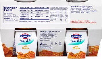 Fage® Total 2% Lowfat Greek Strained Yogurt with Honey 4-5.3 oz. Cups