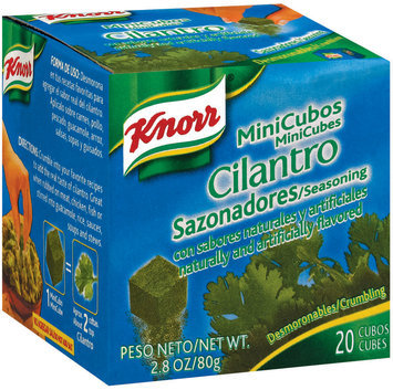 Knorr Hispanic Cilantro Mini Cubes Seasoning 20 Ct Box