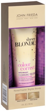 John Frieda Sheer Blonde® Colour Correct Anti-Brassy Cleansing Treatment 4 fl. oz. Box