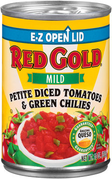 Red Gold® Mild Petite Diced Tomatoes & Green Chilies 10 oz. Can
