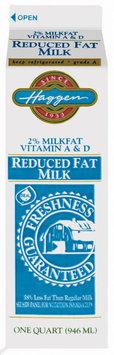 Haggen 2% Vitamin A & D Reduced Fat Milk 1 Qt Carton