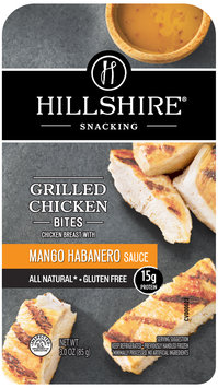 Hillshire® Snacking Grilled Chicken Bites with Mango Habanero Sauce 3.0 oz. Tray