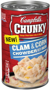 Campbell's® Chunky™ Clam & Corn Chowder with Bacon Soup