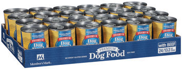 Member's Mark Premium Dog Food with Beef 24-13.2 oz. Cans