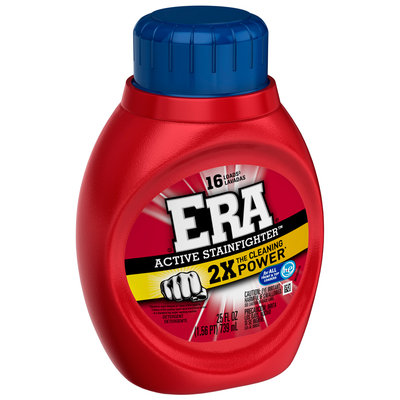 Era 2x Ultra Active Stainfighter Formula Regular Liquid Laundry Detergent 25 fl. oz. Bottle