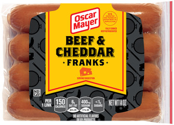 Oscar Mayer Beef & Cheddar Franks 8 ct Pack