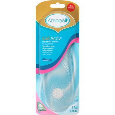 Amope GelActiv™ Flat Shoes Insoles 1 pr. Carded Pack