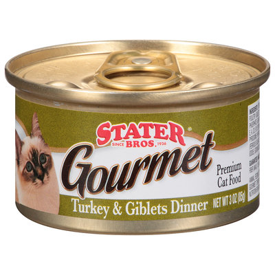 Stater Bros.® Cat Food Premium Gourmet Turkey & Giblets Dinner 3 oz. Pull-Top Can