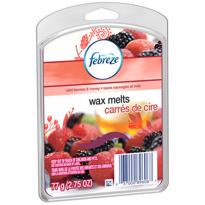 Febreze Wild Berries & Honey Wax Melts, 2.75 oz. Plastic Container