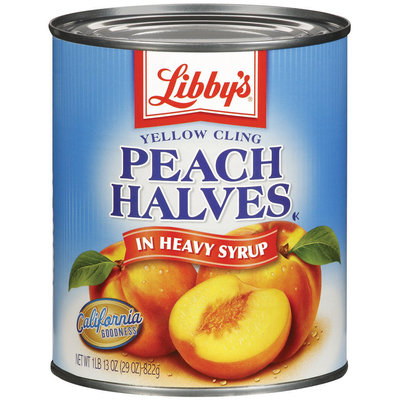 Libby's® Yellow Cling In Heavy Syrup Peach Halves 29 Oz Can