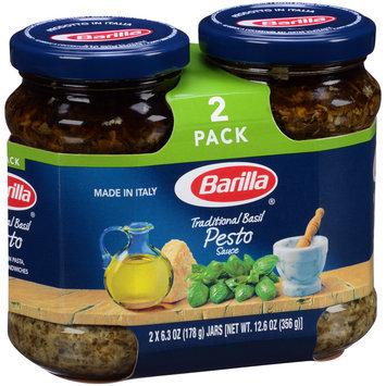 Barilla® Traditional Basil Pesto Sauce 2-6.3 oz. Jars