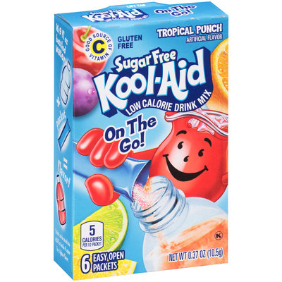 Kool-Aid On the Go! Sugar Free Tropical Punch Low Calorie Drink Mix