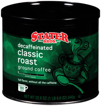Stater Bros.® Decaffeinated Classic Roast Ground Coffee 24.2 oz. Canister
