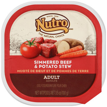 Nutro® Adult Simmered Beef & Potato Stew Dog Food 3.5 oz. Tray