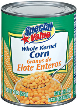 Special Value Whole Kernel Corn 29 Oz Can