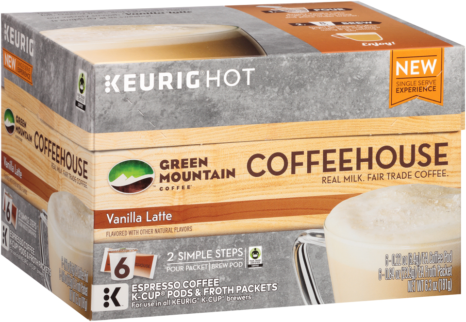 Keurig® Hot Green Mountain Coffee® Vanilla Latte Coffeehouse Coffee