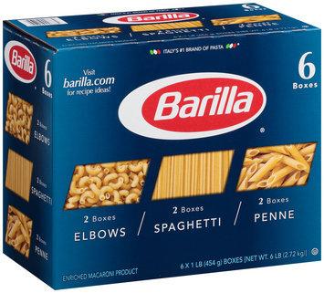 Barilla® Elbows/Spaghetti/Penne Pasta 6-1 lb. Boxes