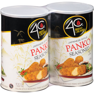 4C® Japanese Style Panko Seasoned Bread Crumbs 2-25 oz. Canisters