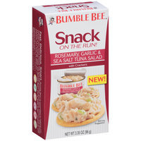 Bumble Bee® Snack on the Run! Rosemary, Garlic & Sea Salt Tuna Salad with Crackers 3.35 oz. Box