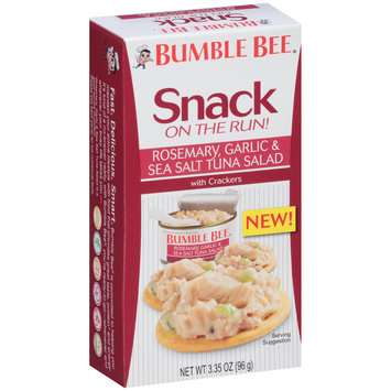 Bumble Bee® Snack on the Run! Rosemary, Garlic & Sea Salt Tuna Salad with Crackers 3.35 oz. Box