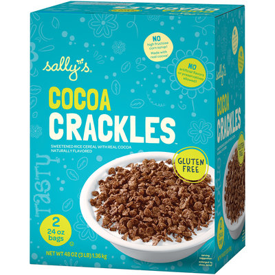 Sally's® Cocoa Crackles™ Sweetened Rice Cereal 2-24 oz. Bags