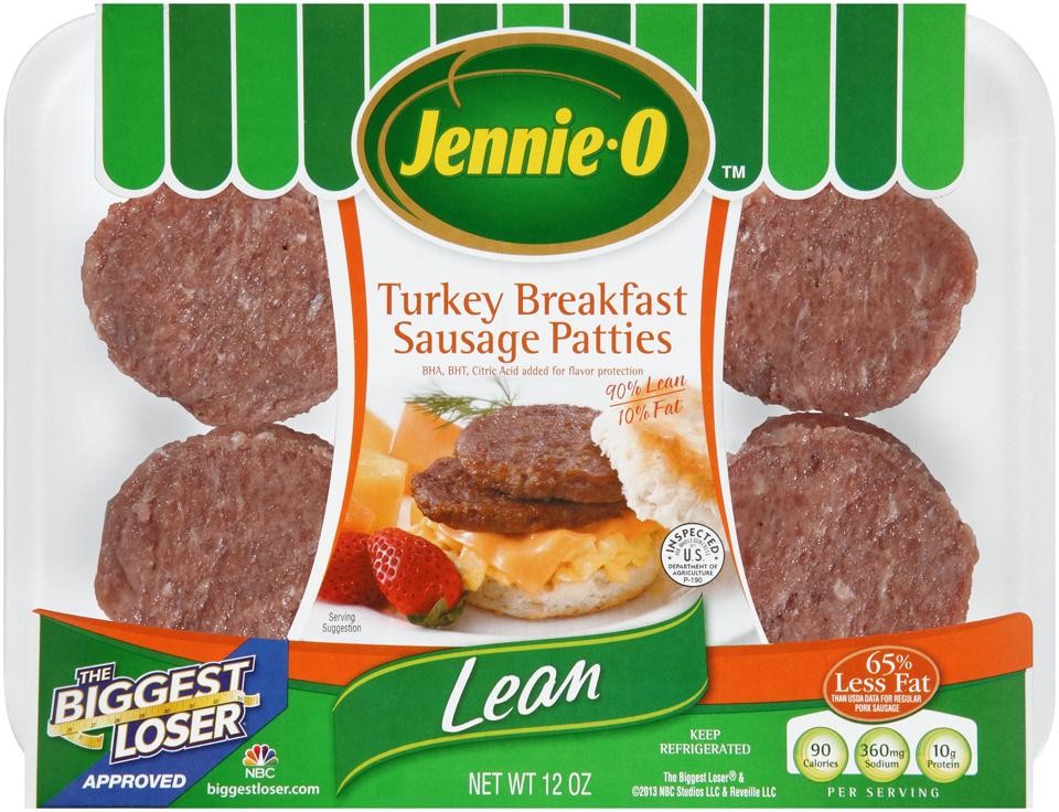 Jennie-O™ Lean Turkey Sausage Breakfast Patties 12 oz. Tray