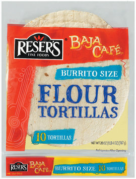Baja Cafe Burrito Size 10 Ct Flour Tortillas 20 Oz Bag