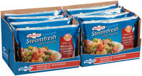 Birds Eye® Steamfresh® Chef's Favorite Lightly Sauced Broccoli, Cauliflower & Carrots Fresh Frozen Vegetables Display 8-12 oz. Bags