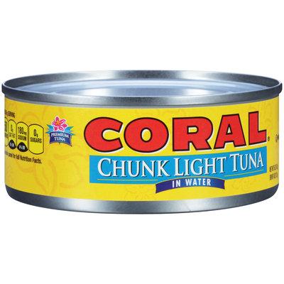Coral® Chunk Light Tuna in Water 5 oz. Can