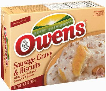 Owens White Gravy W/Pork Sausage Gravies 13.5 Oz Box