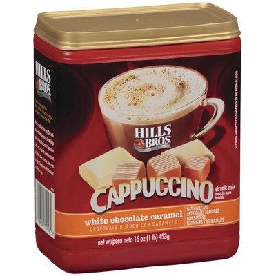 Hills Bros White Chocolate Caramel Cappuccino 16 Oz Plastic Container