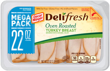 Oscar Mayer Deli Fresh Oven Roasted Turkey Breast Cold Cuts 22 oz. Tub